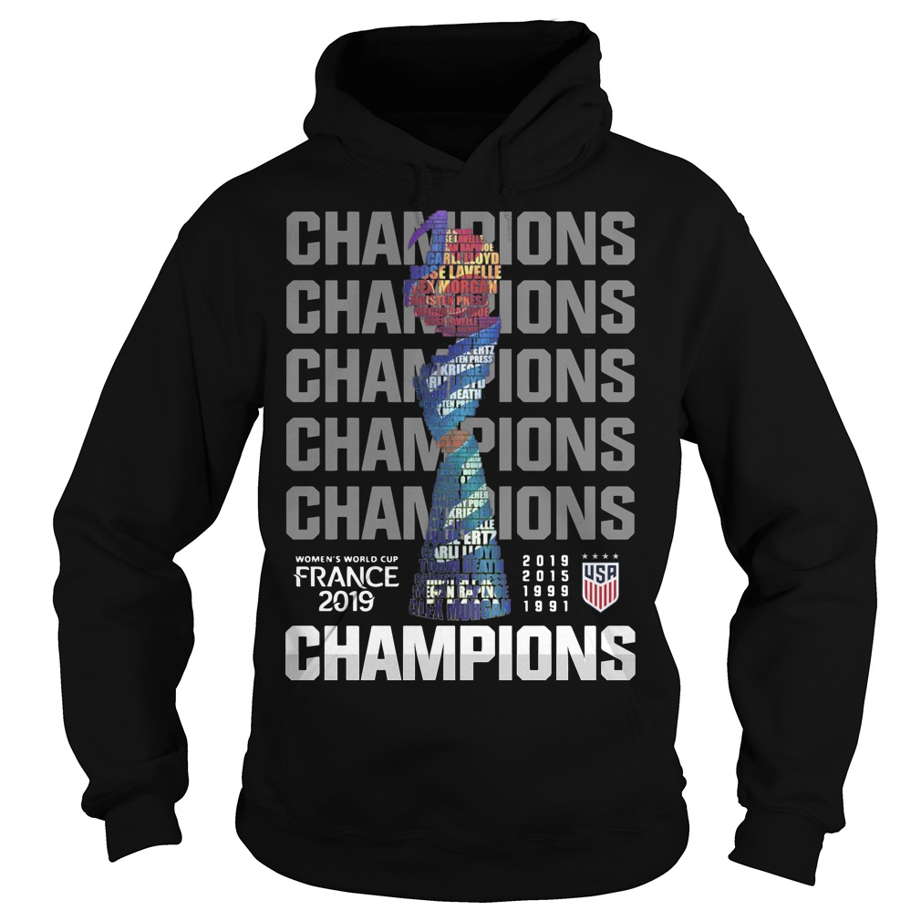 Women's World Cup France 2019 Champions Hoodie