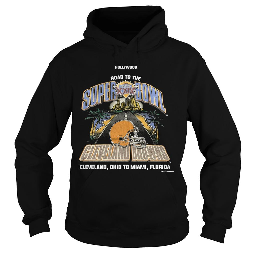 Wood Road To The Super Bowl Cleveland Browns Hoodie