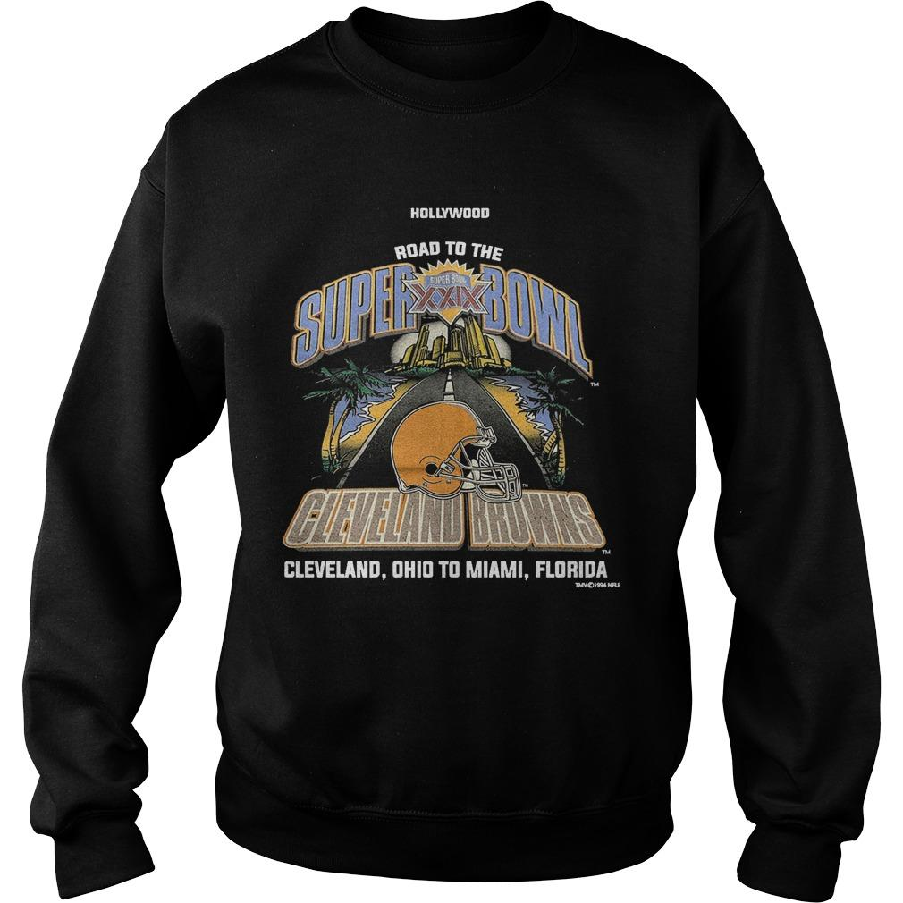 Wood Road To The Super Bowl Cleveland Browns Sweater