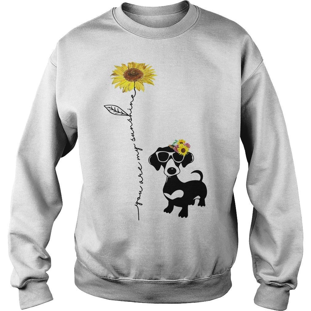 You Are My Sunshine Dachshund Sweater
