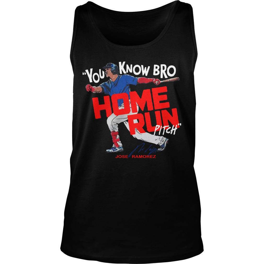 You Know Bro Home Run Pitch Tank Top
