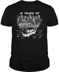 18 Years Of Fast And Furious 2001 2019 9 Films Signatures