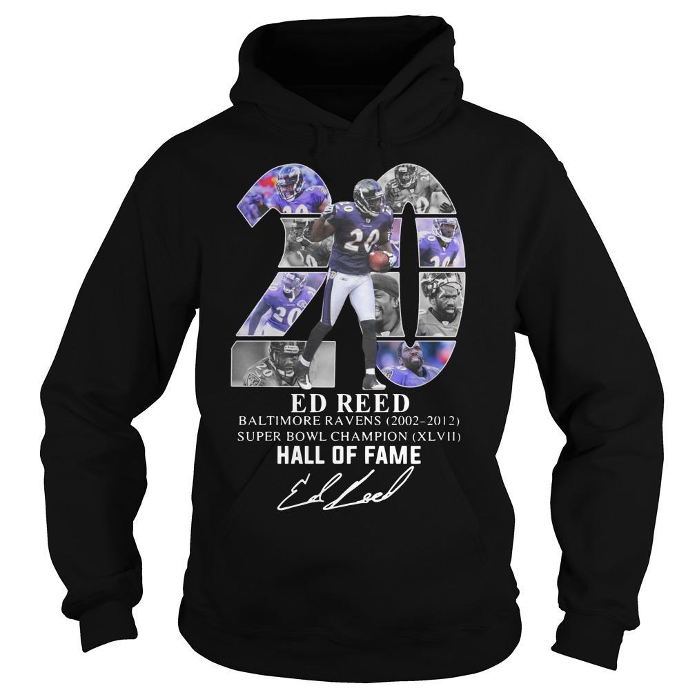 20 Ed Reed Hall Of Fame Hoodie