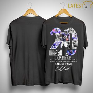 20 Ed Reed Hall Of Fame Shirt