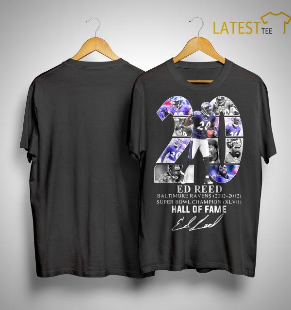 20 Ed Reed Hall Of Fame Shirt
