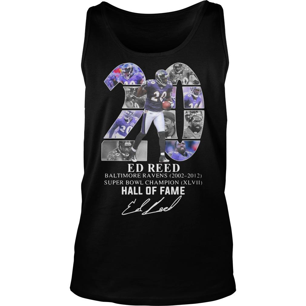 20 Ed Reed Hall Of Fame Tank Top