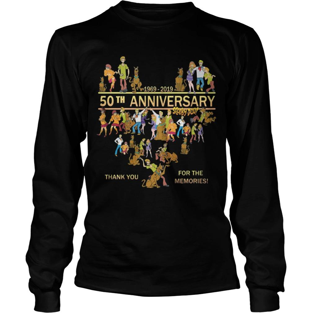 50th Anniversary Scooby Doo 1969 2019 Thank You For The Memories Longsleeve