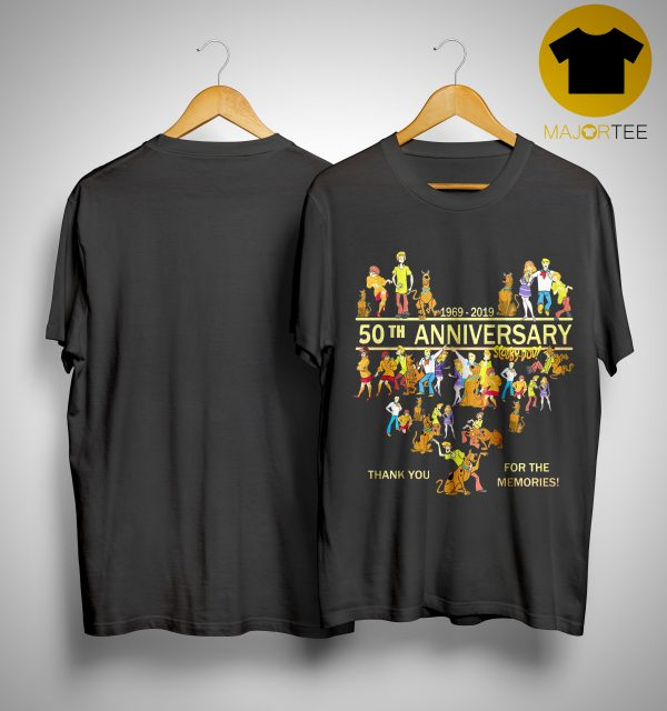 50th Anniversary Scooby Doo 1969 2019 Thank You For The Memories Shirt