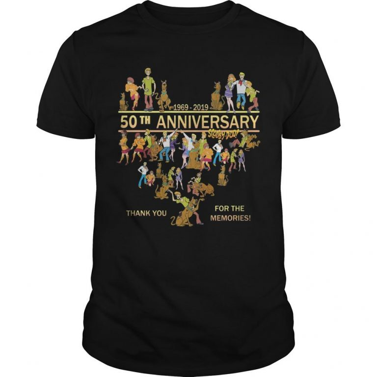 50th Anniversary Scooby Doo 1969 2019 Thank You For The Memories