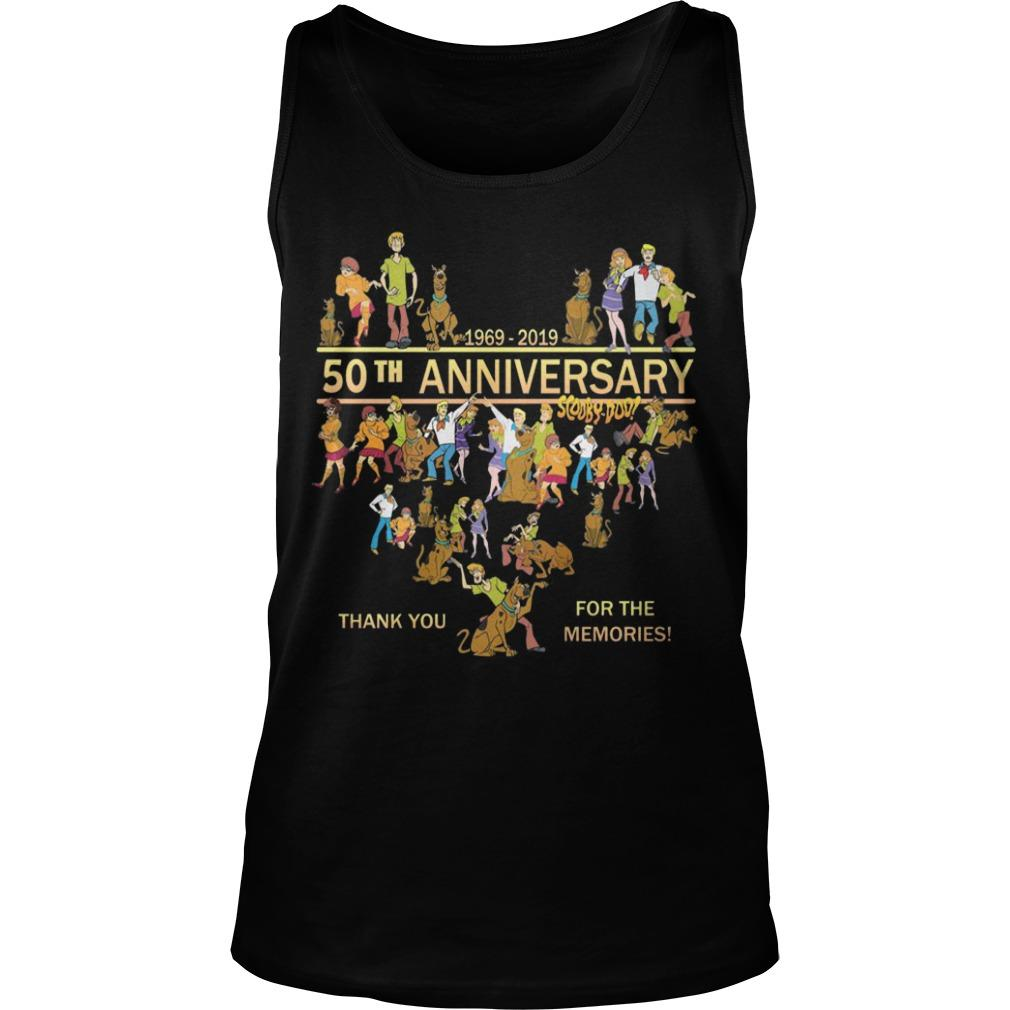50th Anniversary Scooby Doo 1969 2019 Thank You For The Memories Tank Top
