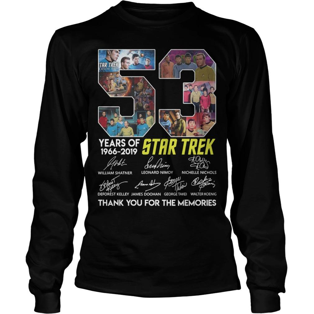 53 Years Of Star Trek 1966 2019 Thank You For The Memories Longsleeve