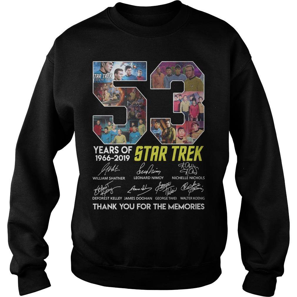53 Years Of Star Trek 1966 2019 Thank You For The Memories Sweater