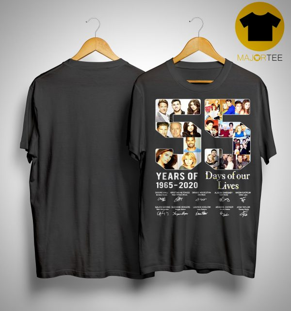 55 Years Of Day Of Our Lives 1965 2020 Signatures Shirt