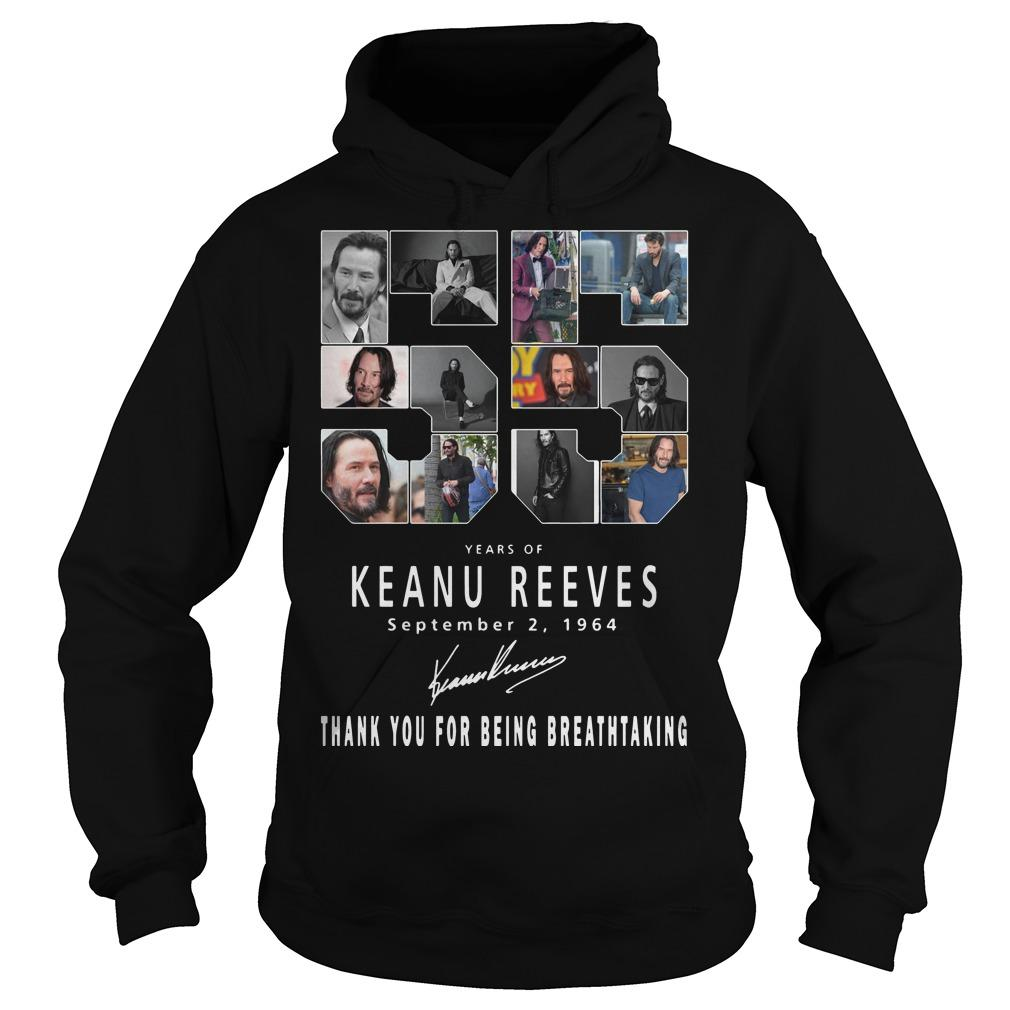 55 Years Of Keanu Reeves Thank You For Breathtaking Hoodie