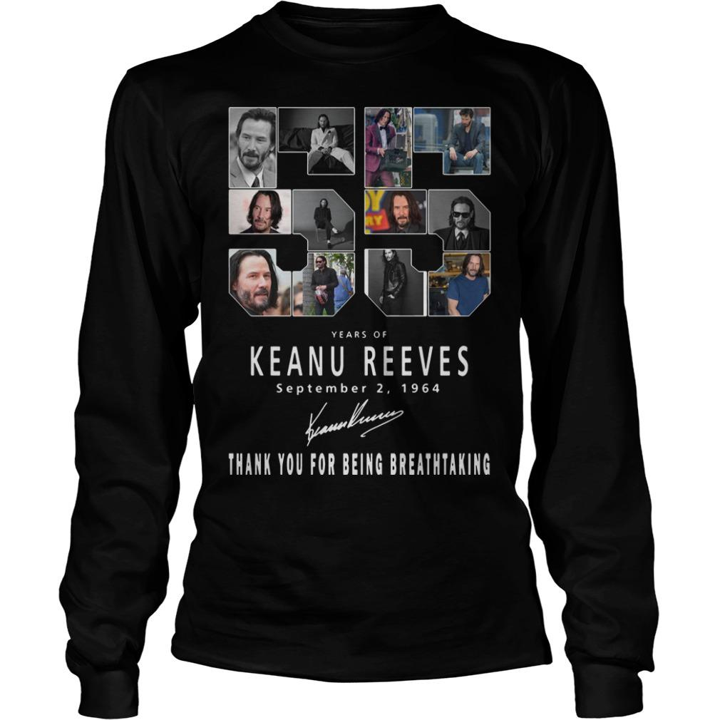 55 Years Of Keanu Reeves Thank You For Breathtaking Longsleeve