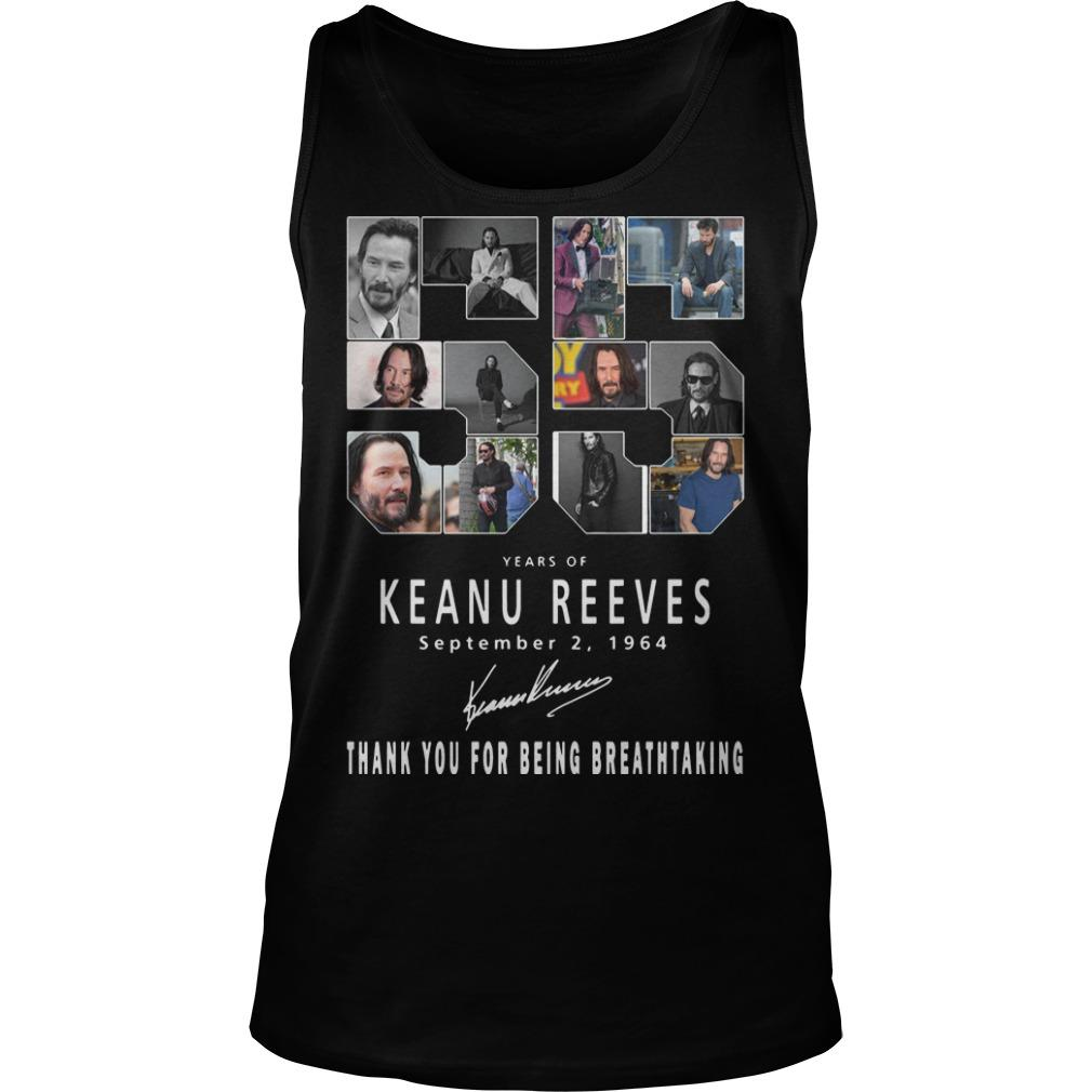 55 Years Of Keanu Reeves Thank You For Breathtaking Tank Top