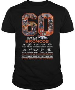 60 Years Of Broncos 1959 2019 Thank You For The Memories