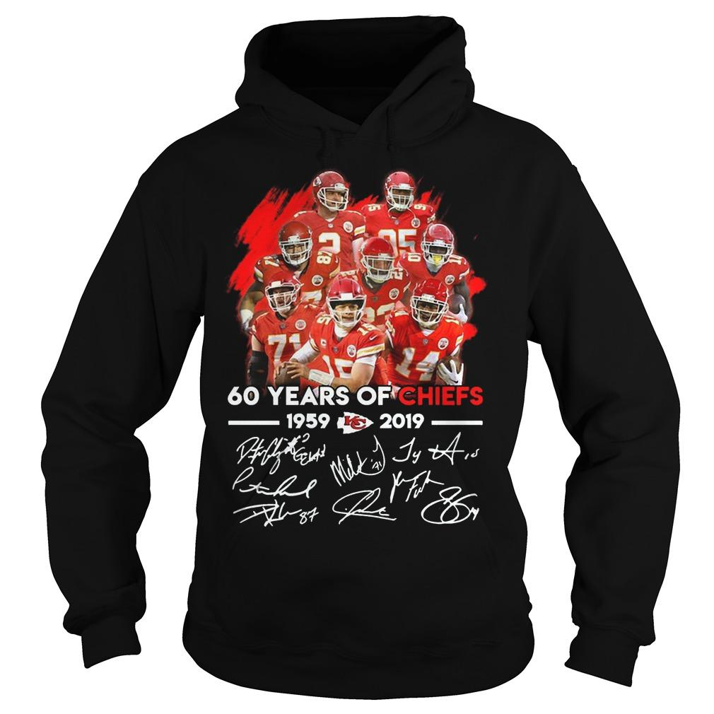 60 Years Of Chiefs 1959 2019 Signature Hoodie