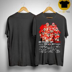 60 Years Of Chiefs 1959 2019 Signature Shirt