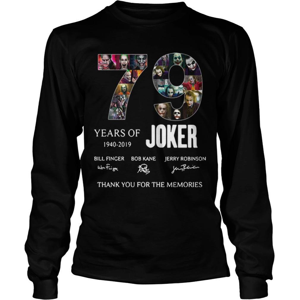 79 Years Of Joker 1940 2019 Thank You For The Memories Longsleeve
