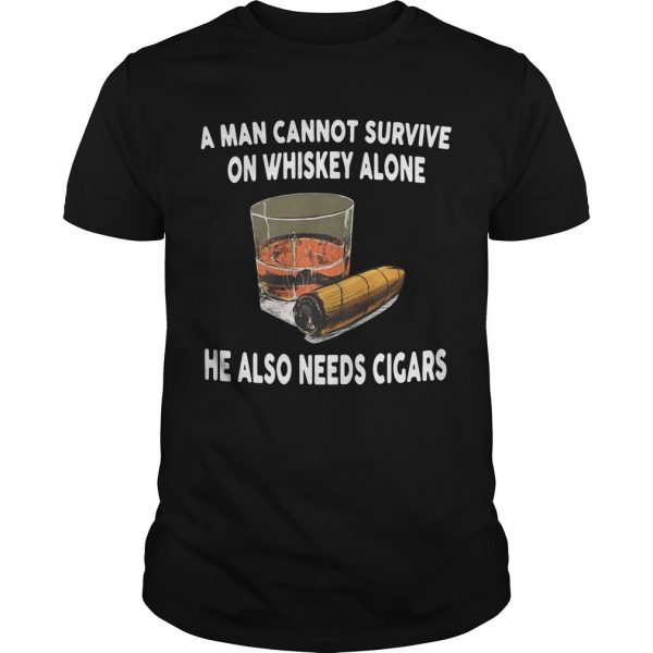 A Man Cannot Survive On Whiskey Alone He Also Needs Cigars