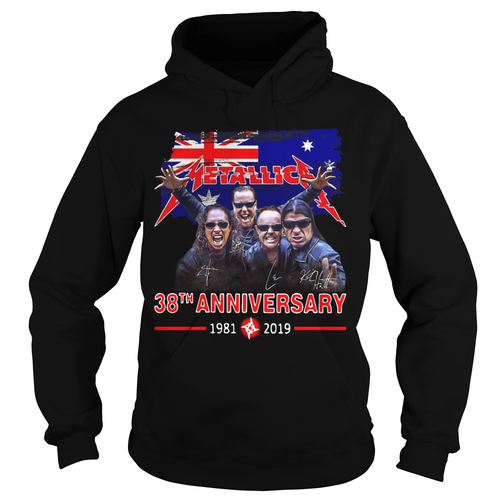 Australia Flag Metallica 38th Anniversary 1981 2019 Hoodie