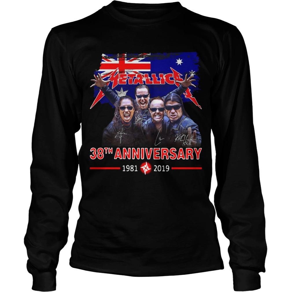 Australia Flag Metallica 38th Anniversary 1981 2019 Longsleeve