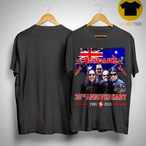 Australia Flag Metallica 38th Anniversary 1981 2019 Shirt