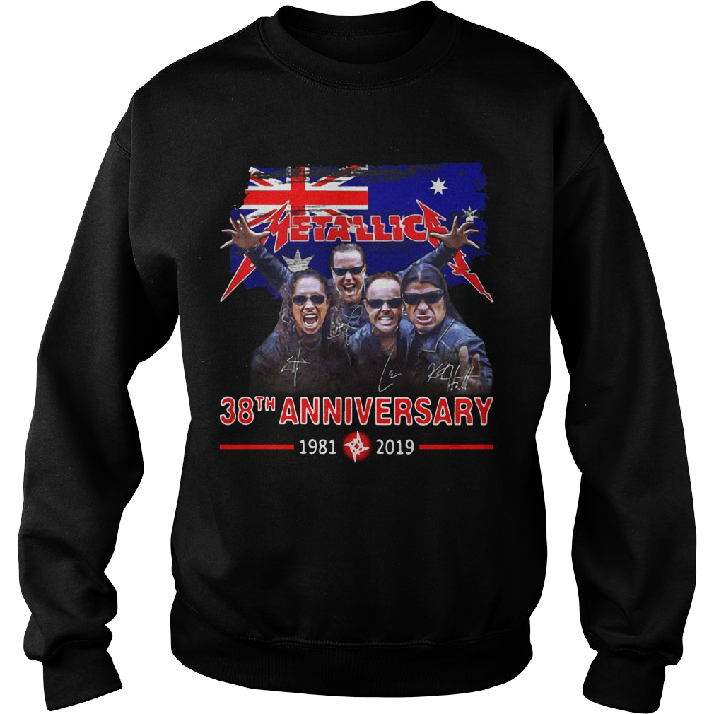 Australia Flag Metallica 38th Anniversary 1981 2019 Sweater