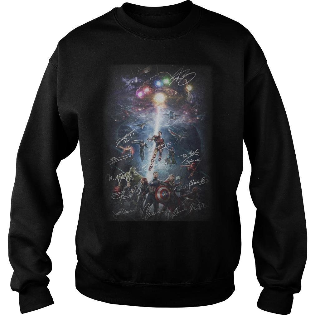 Avengers New Poster Signatures Sweater