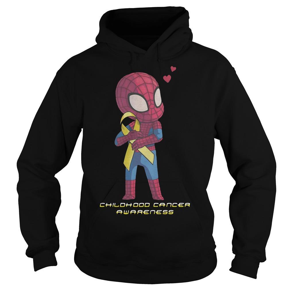Baby Spider Man Childhood Cancer Awareness Hoodie