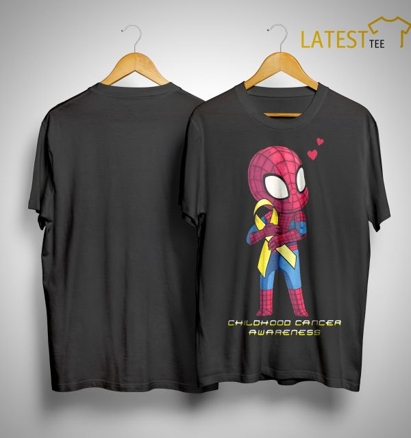 Baby Spider Man Childhood Cancer Awareness Shirt