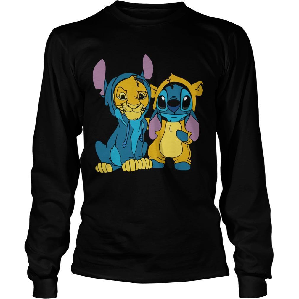 Baby Stitch And Simba Longsleeve