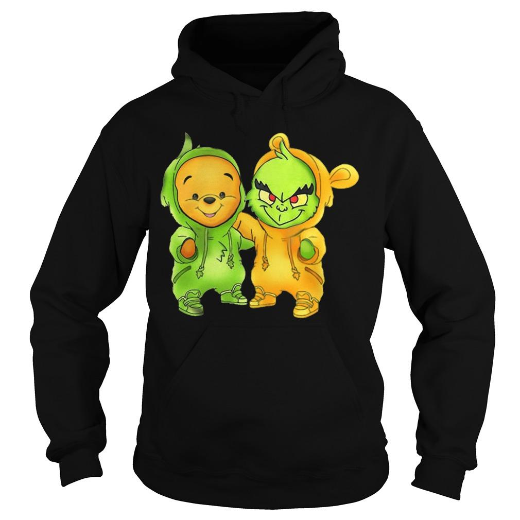 Baby The Grinch And Pooh Hoodie