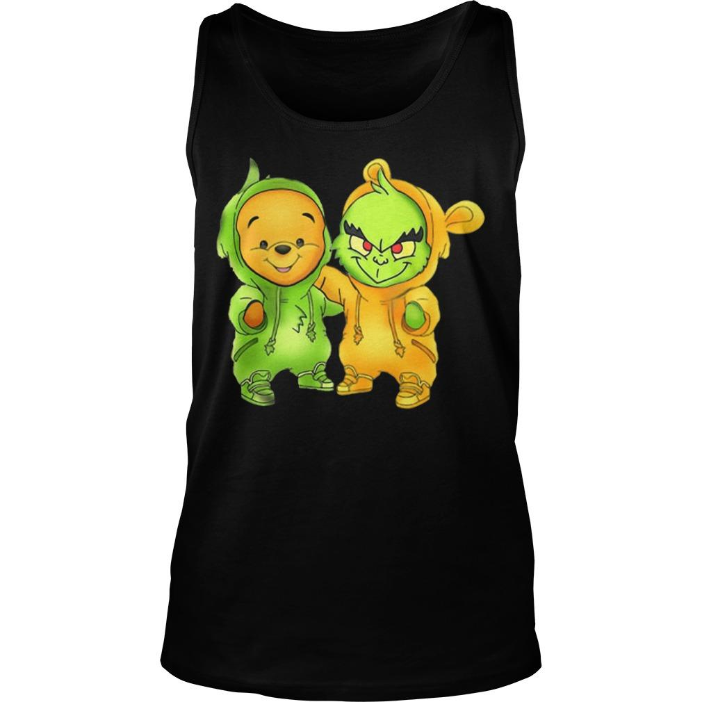 Baby The Grinch And Pooh Tank Top