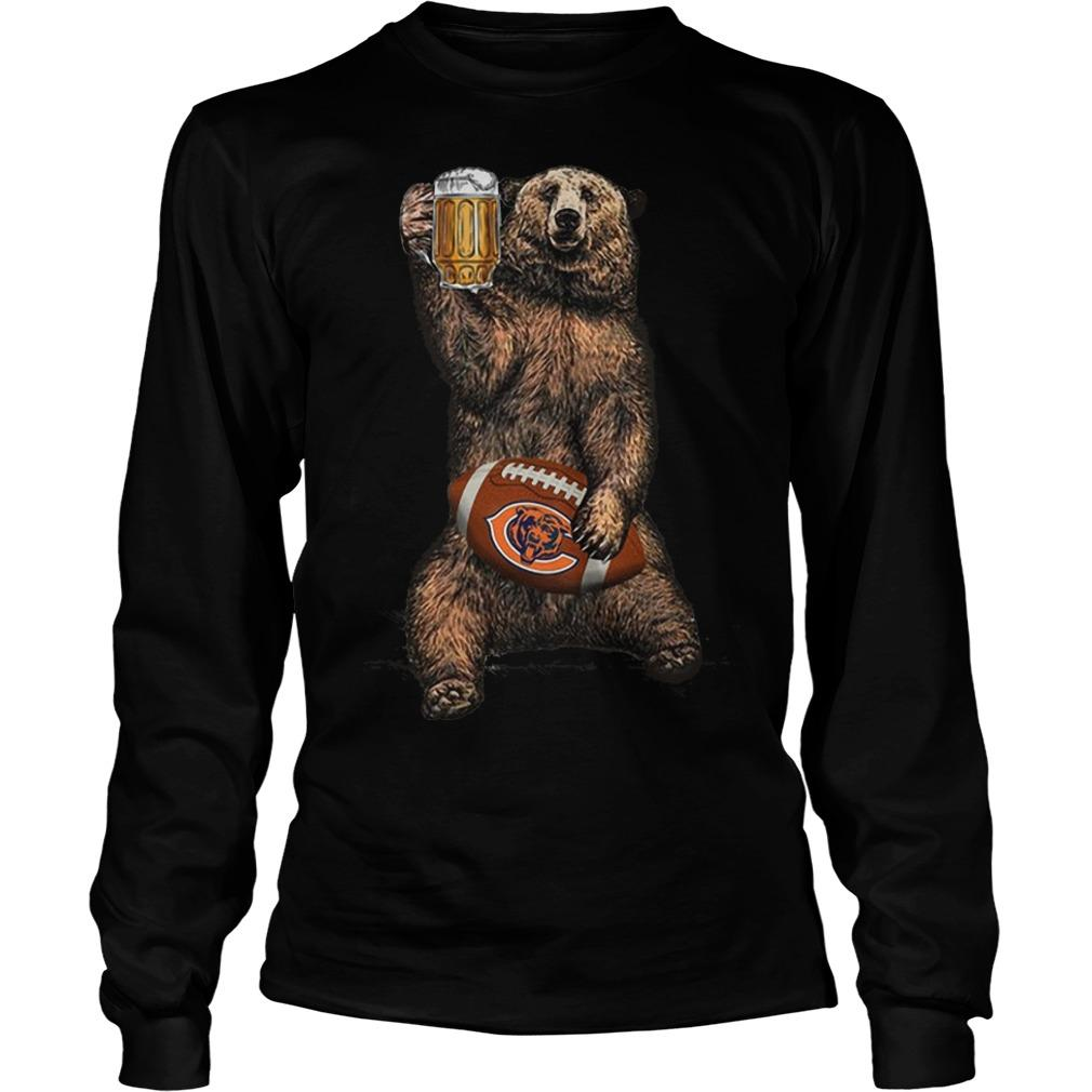 Bear Drinking Chicagos Bears Longsleeve