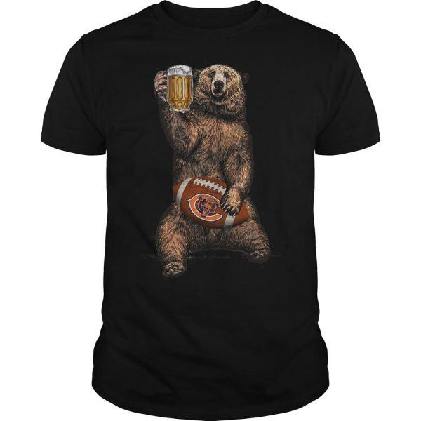 Bear Drinking Chicagos Bears