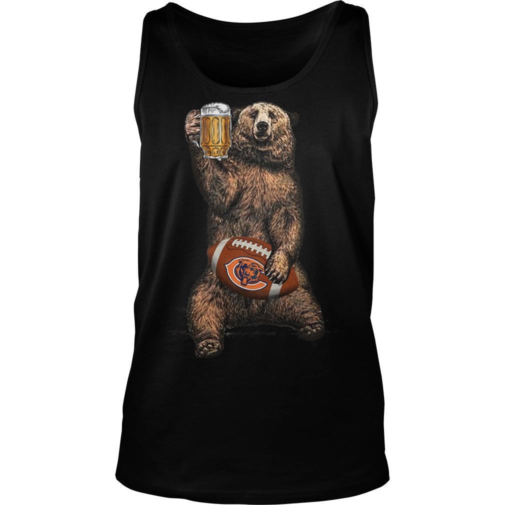 Bear Drinking Chicagos Bears Tank Top