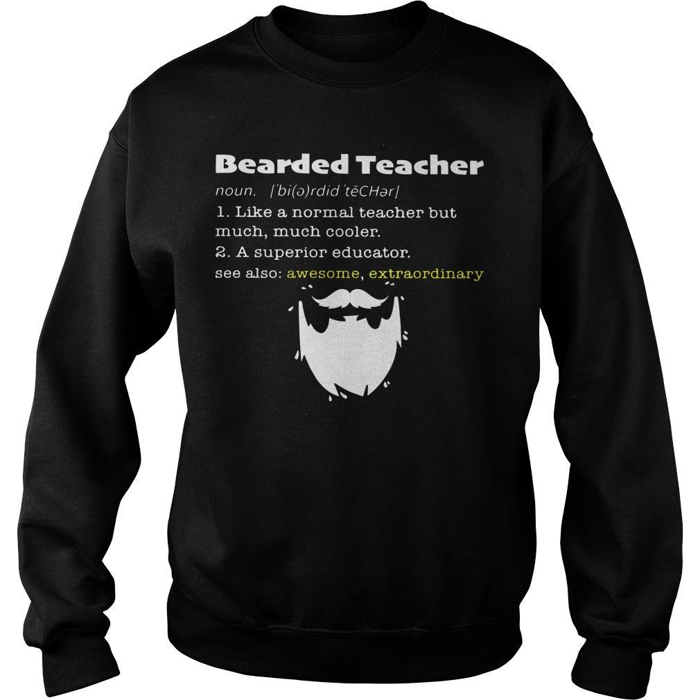 Bearded Teacher Noun Like A Normal Teacher But Much Much Cooler Sweater