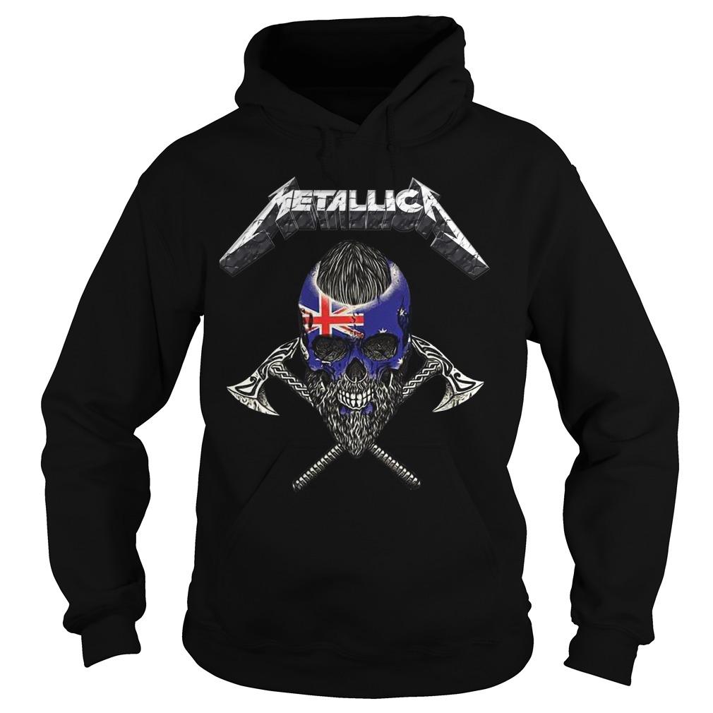 Britain Flag Skull Metallica Hoodie