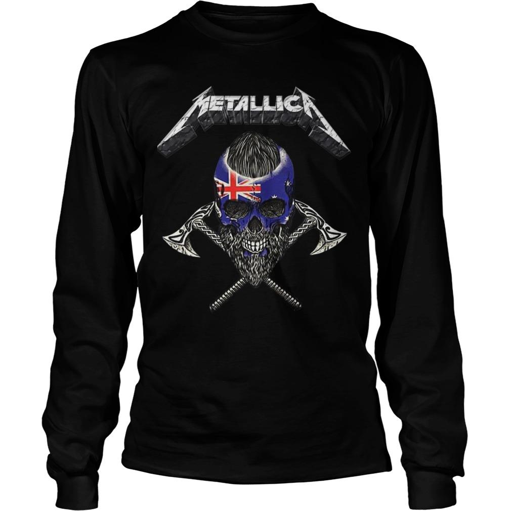 Britain Flag Skull Metallica Longsleeve