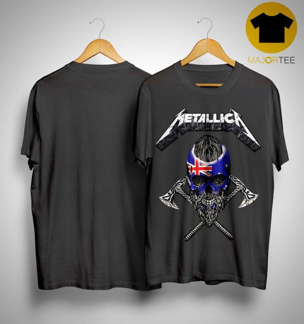 Britain Flag Skull Metallica Shirt