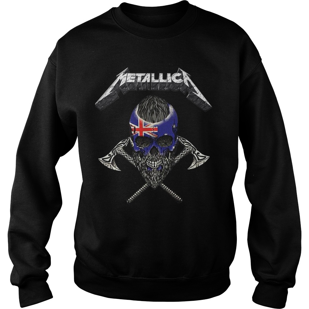 Britain Flag Skull Metallica Sweater