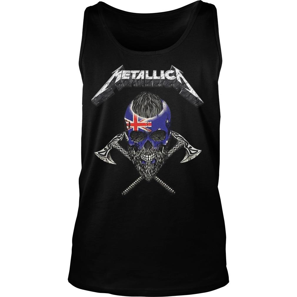 Britain Flag Skull Metallica Tank Top
