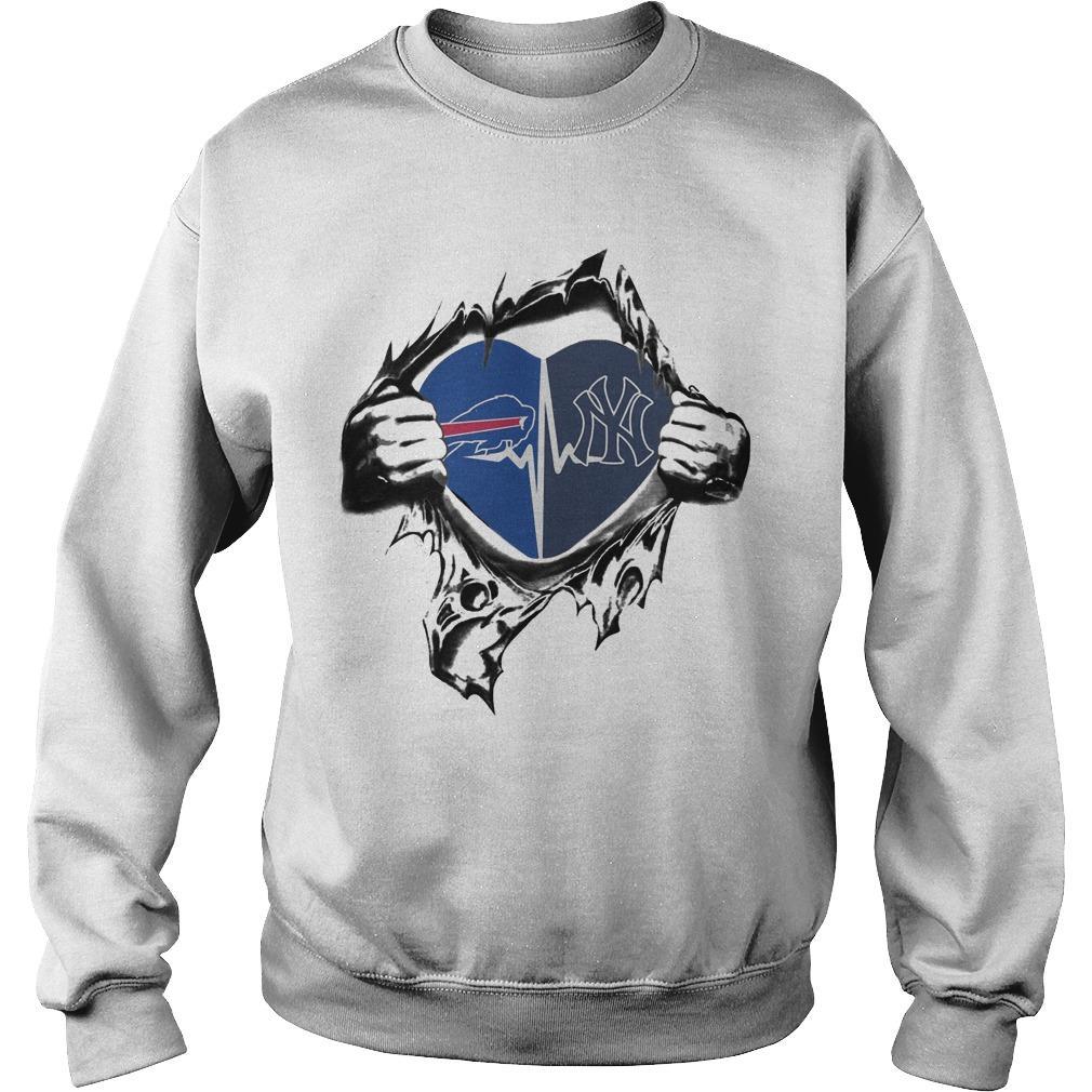 Buffalo Bills New York Yankees It's In My Heart Sweater