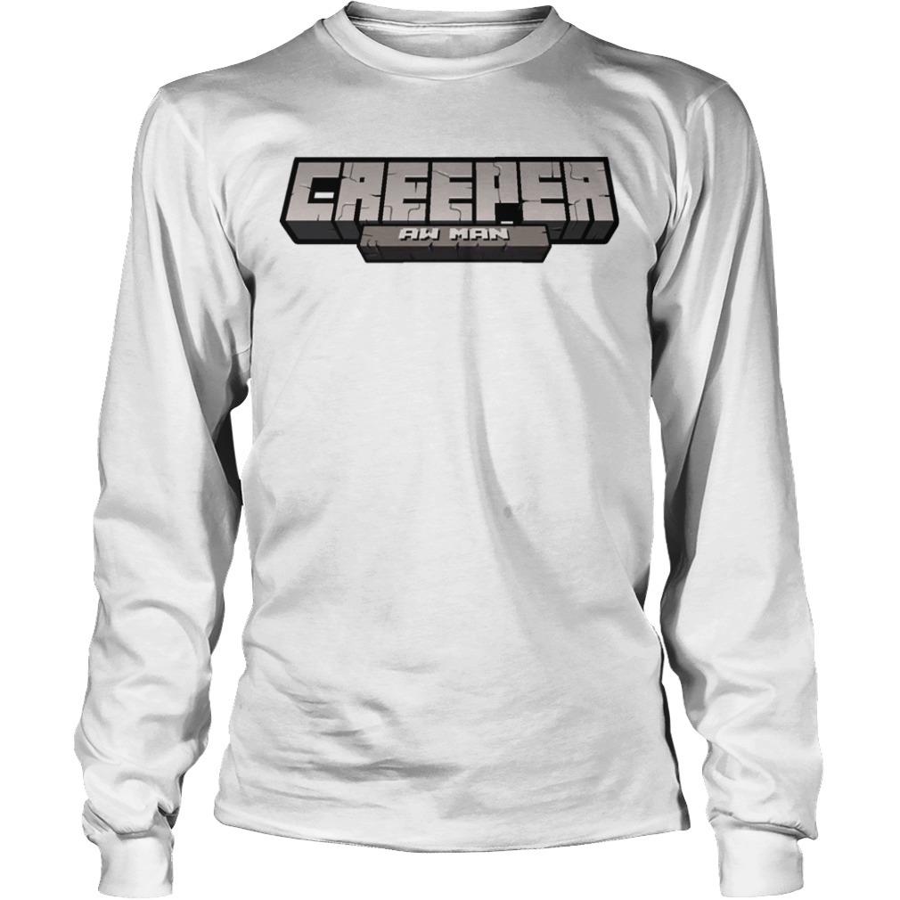Captainsparklez Creeper Aw Man Long Sleeve Tee