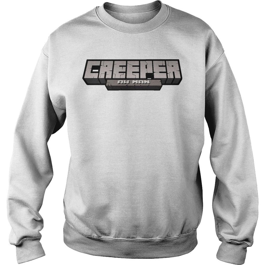 Captainsparklez Creeper Aw Man Sweater