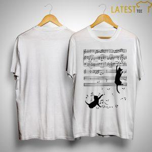 Cats Playing On Piano Sheet Shirt