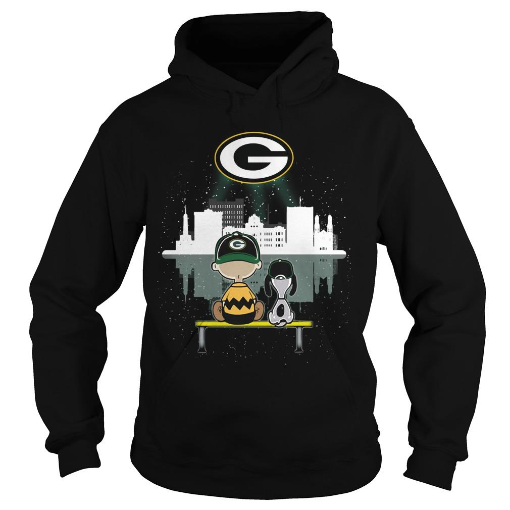 Charlie And Snoopy Green Bay Packer Hoodie