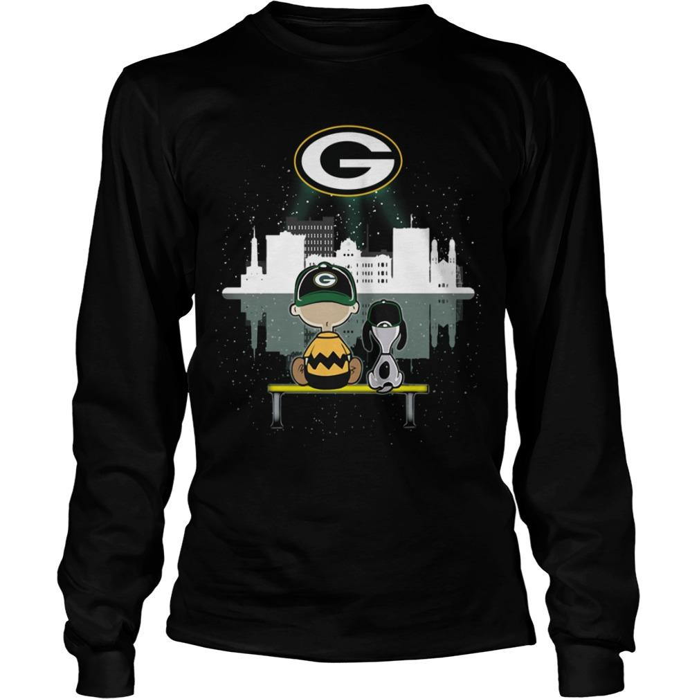 Charlie And Snoopy Green Bay Packer Longsleeve
